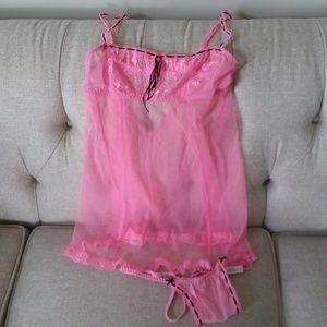 VS Pink & Black Chemise